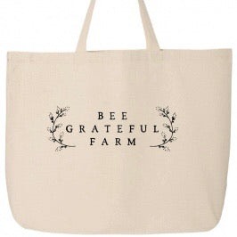 Bee Grateful Farm Market Tote