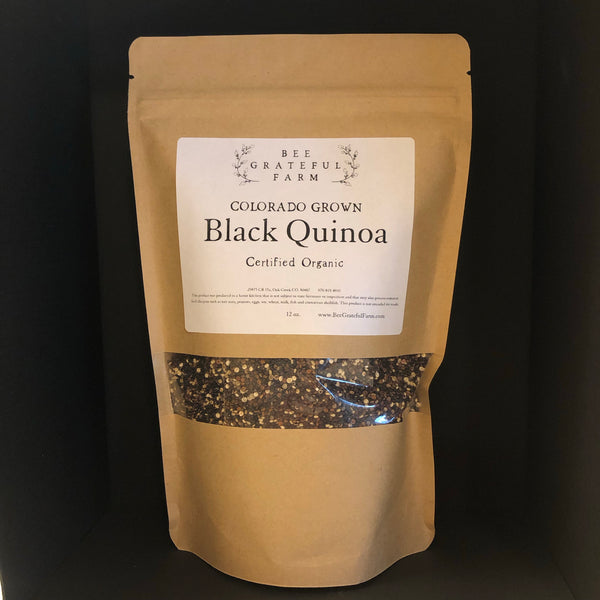 Black Quinoa - Colorado Grown (12 oz.)