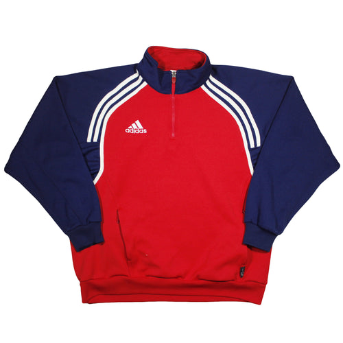 ADIDAS | L | Q-ZIP SWEATER