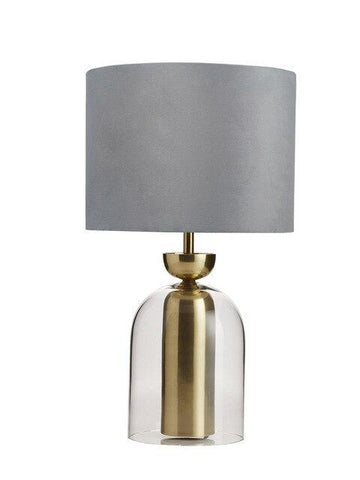 Lampe de Table Verre Lulu Veilleuse Gris China