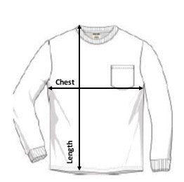 Long Sleeve T-Shirt Size Guide Comfort Colors