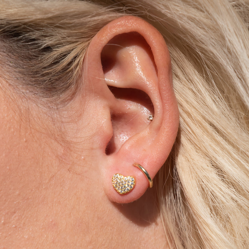Crystal Heart Studs