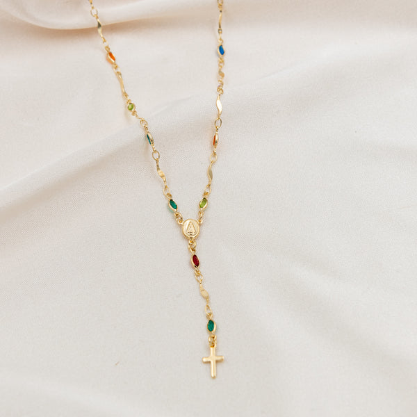 Multi Color Stone Rosary
