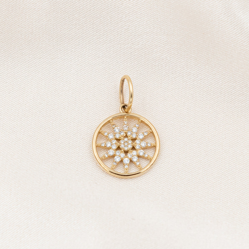 Diamond Star Circle Charm