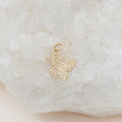 Diamond Butterfly Charm