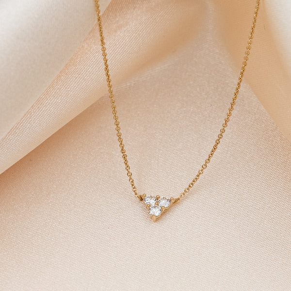 Tri Diamond Necklace