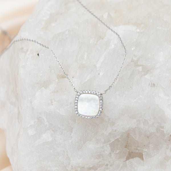 Mother of Pearl Crystal Necklace