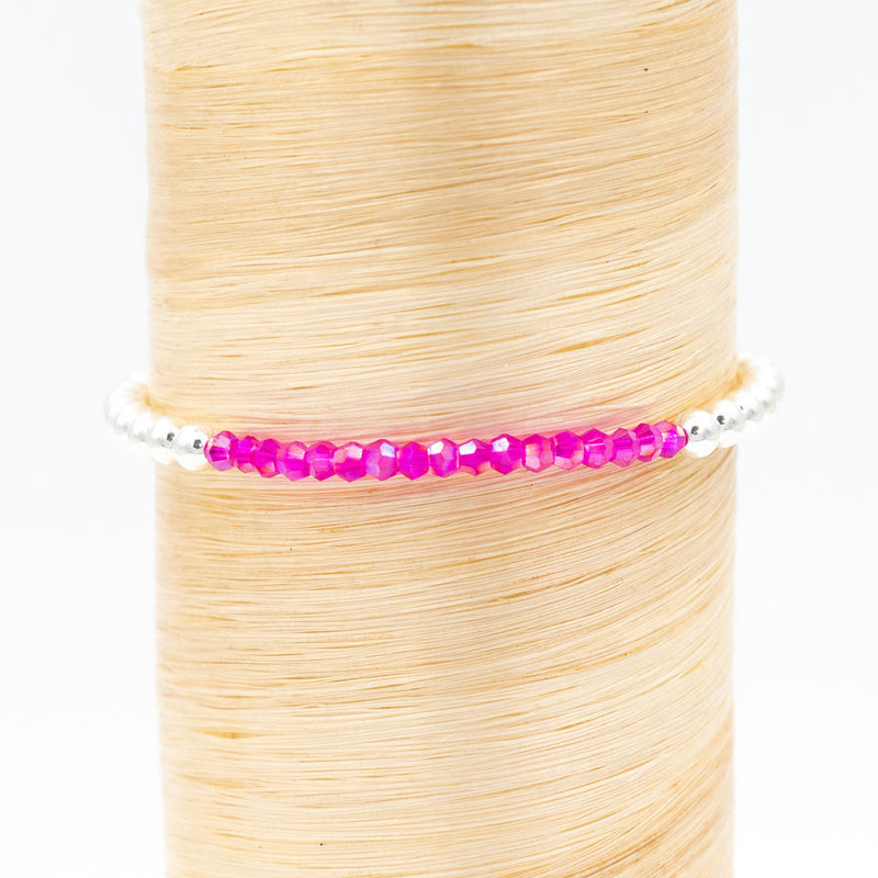Raspberry Crystal Signature Bracelet