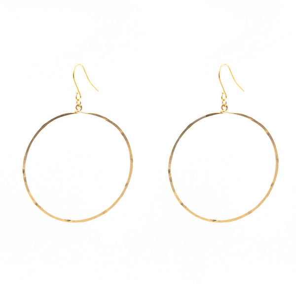 Hammered Classic Hoops