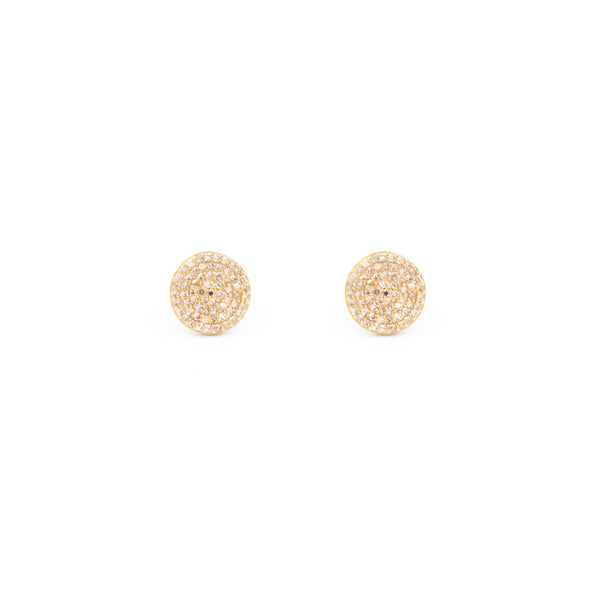 Diamond Circle Stud Lg