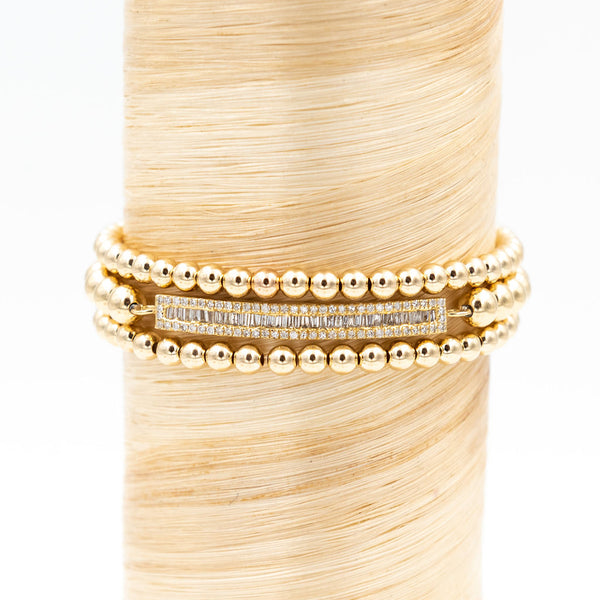 Diamond Baguette Bar Signature Bracelet