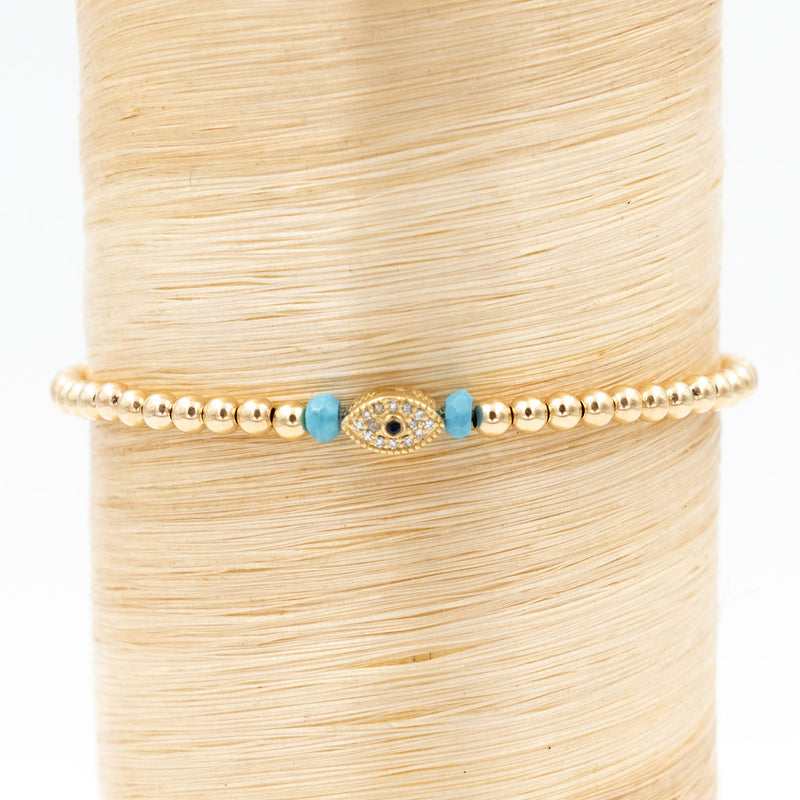 Diamond Eye & Turquoise Signature Bracelet