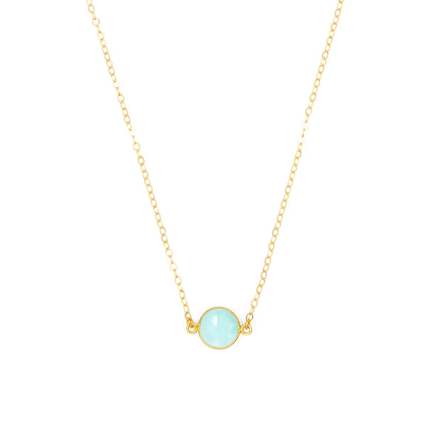 Semi Precious Stone Charm Necklace