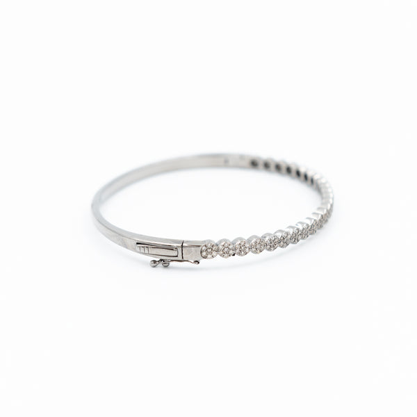 Pave Circle Diamond Bangle