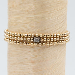 Mini Hour Glass Diamond Bead Signature Bracelet