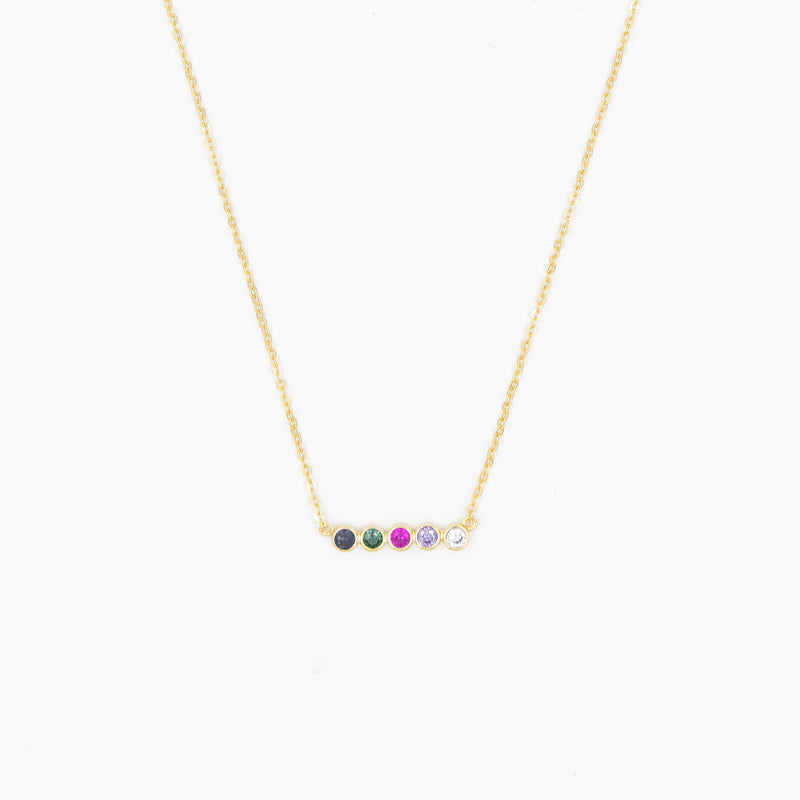 Multi Crystal Stone Necklace Valentine's Day Gift Idea Galentine Gift Idea Layering Necklace Gift Ideas