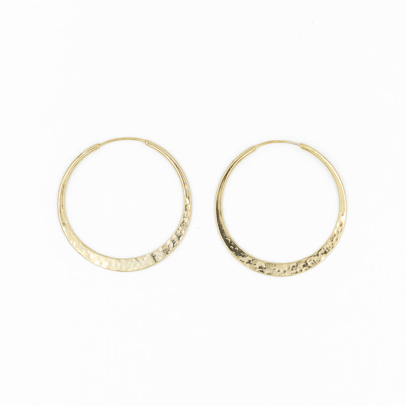 Infinity Hammered Hoops