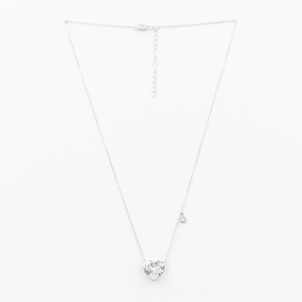 Big Heart Crystal Charm