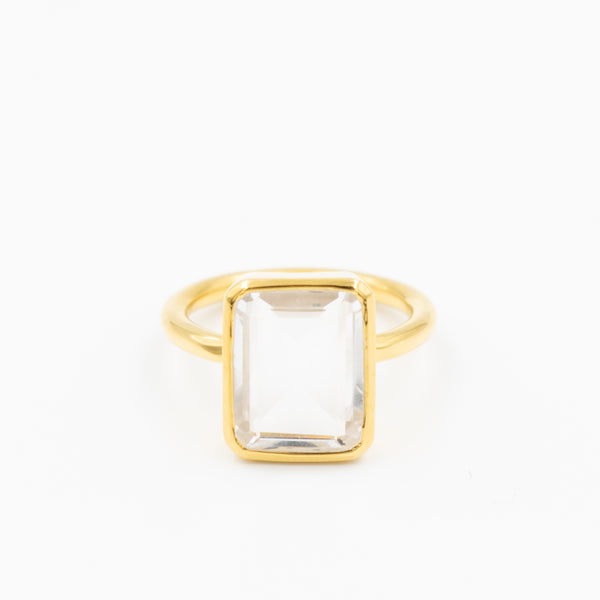 Emerald Cut Stone Ring