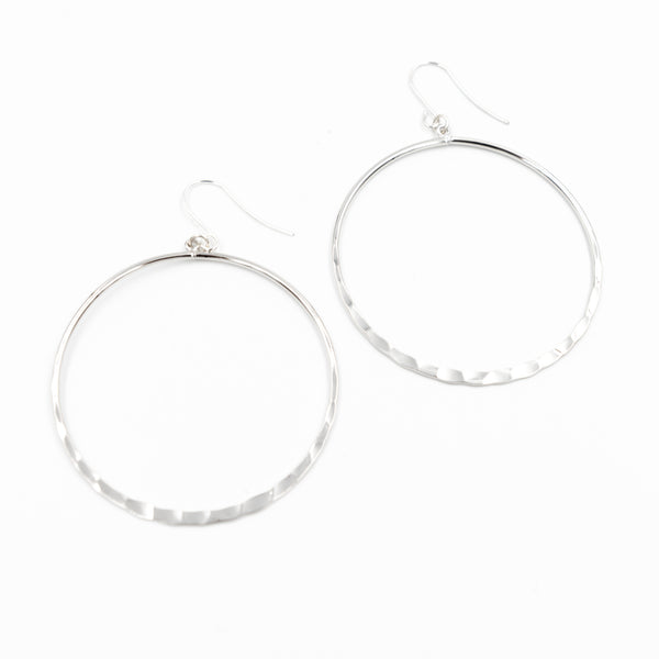 Half Hammered Hoop Earrings