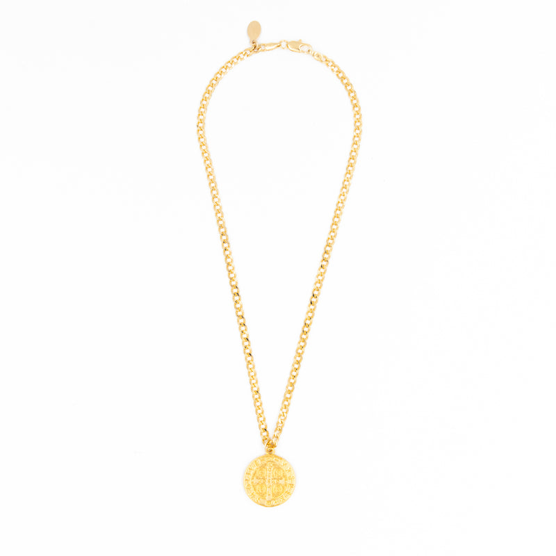 Double Protection Coin Necklace