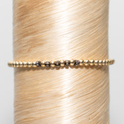 5 Diamond Mini Beads Signature Braclet