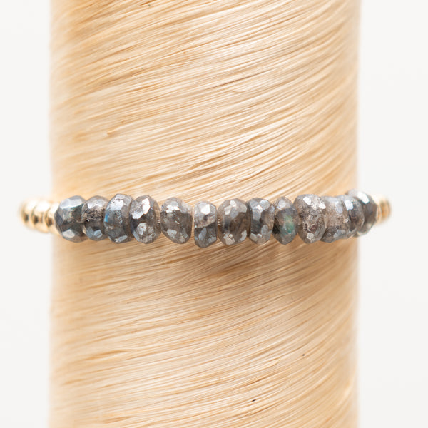 Large Coated Labradorite Bead Signature Bracelet