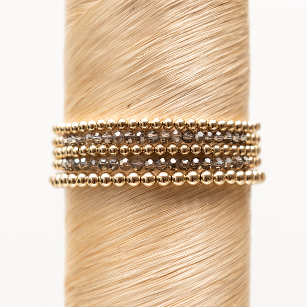 Taupe Crystal Signature Stack
