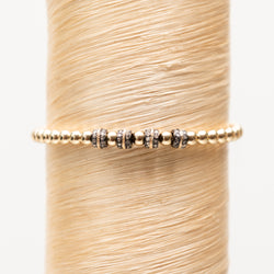 Quad Diamond Bead with Gold Inlay Signature Bracelet