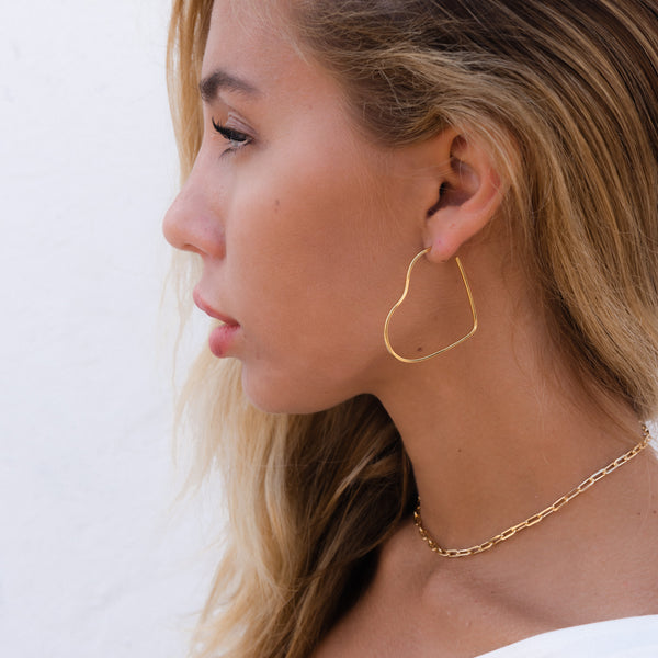 Heart Shape Hoops