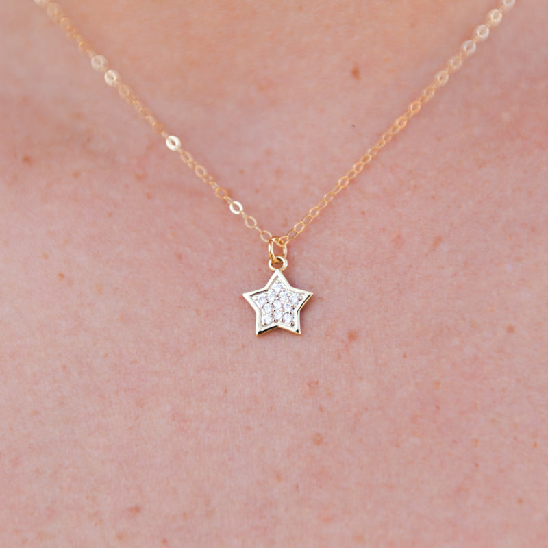 Crystal Star Charm Necklace