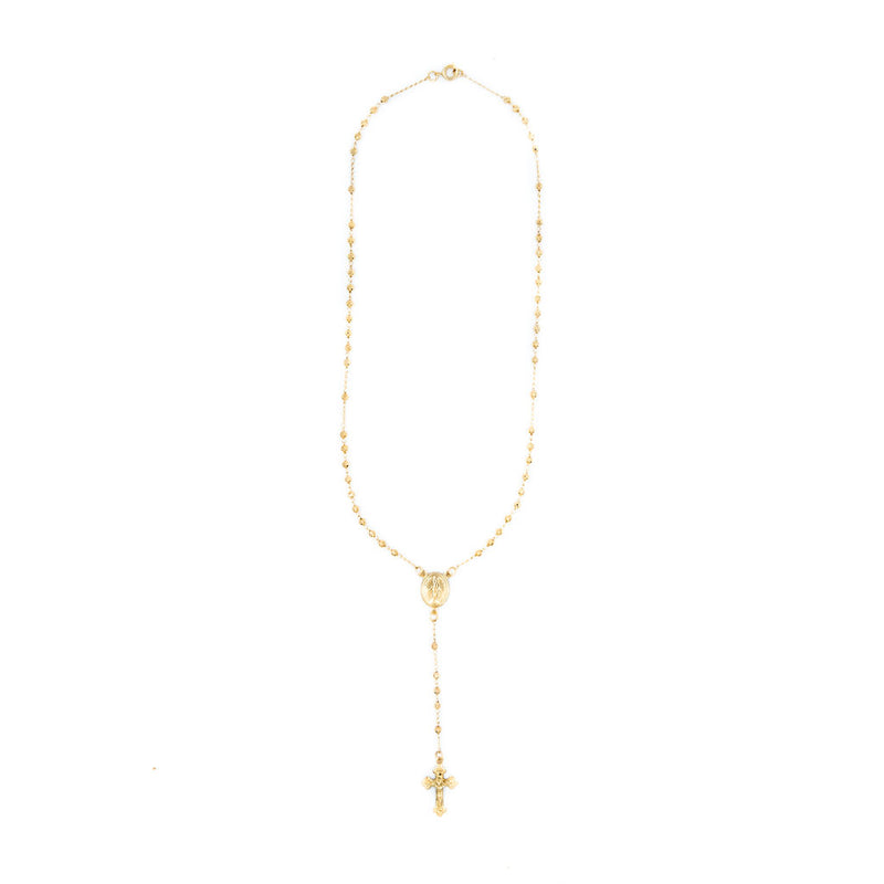 Faceted Rosary Necklace