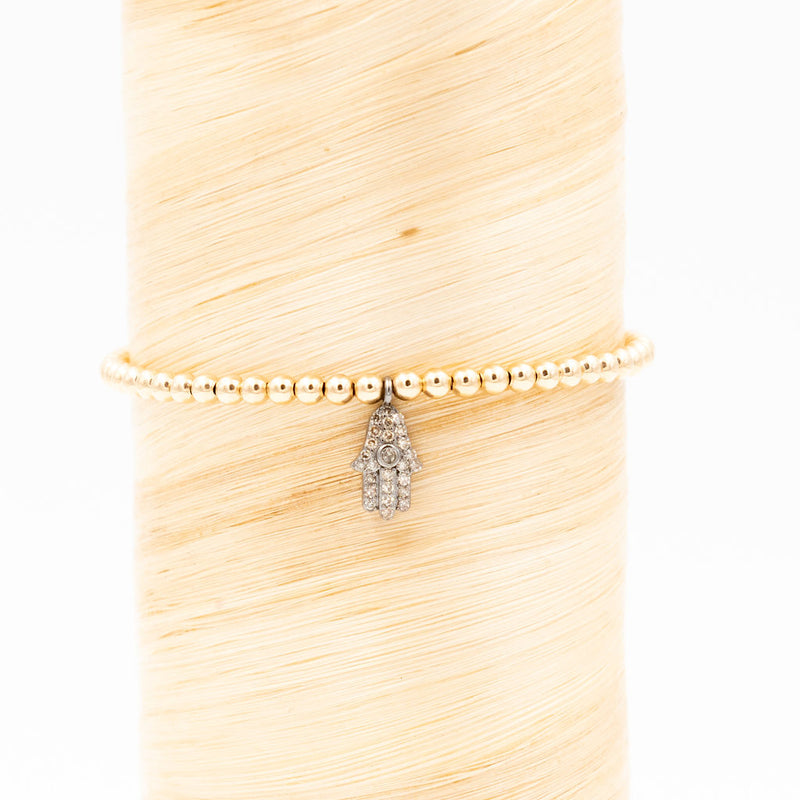 Diamond Hamsa Signature Bracelet