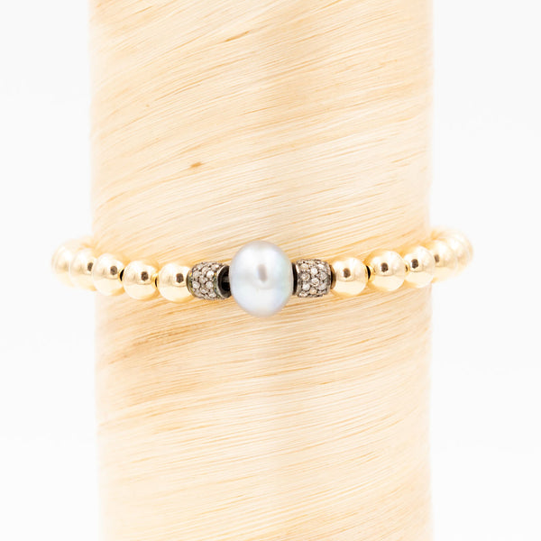 Freshwater Pearl w/ Diamonds Signature Bracelet