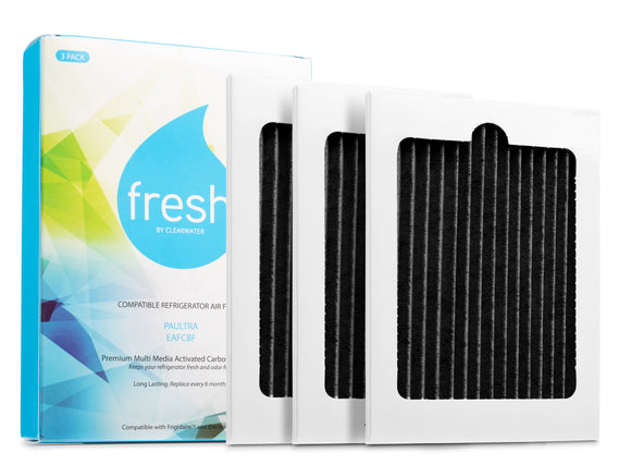 Fresh Frigidaire Pure Air Ultra PAULTRA Electrolux EAFCBF Refrigerator Air Filter, 3 Pack