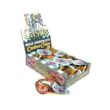 Chocolate Castle Casino Chips In Mesh Bags 18 Count