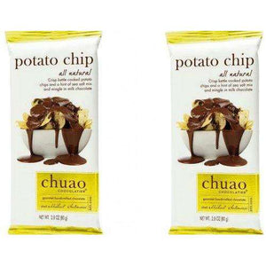 Chuao Chocolatier Potato Chip Milk Chocolate Bar 12 Count