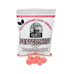 Claeys Natural Peppermint Hard Candy 6 Ounce 24 Count