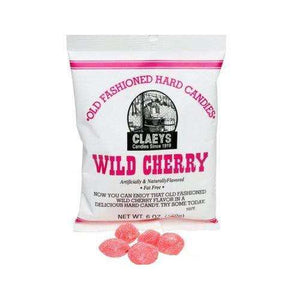 Claeys Wild Cherry Hard Candy 6 Ounce 24 Count