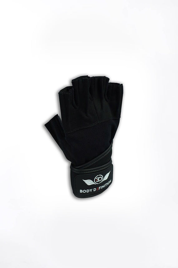 Mens Weight Lifting Gloves Long Straps Body Definition
