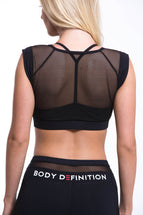 LAPIS Sports Mesh Bra Black
