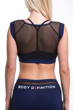 LAPIS Sports Mesh Bra Navy