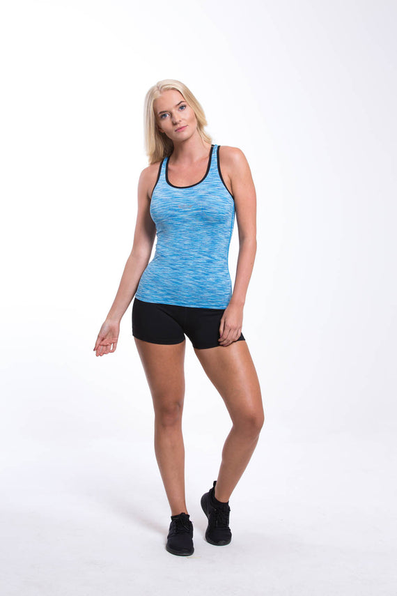 Womens Dry Fit Vest Blue