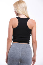 ATEN Cropped Top Black