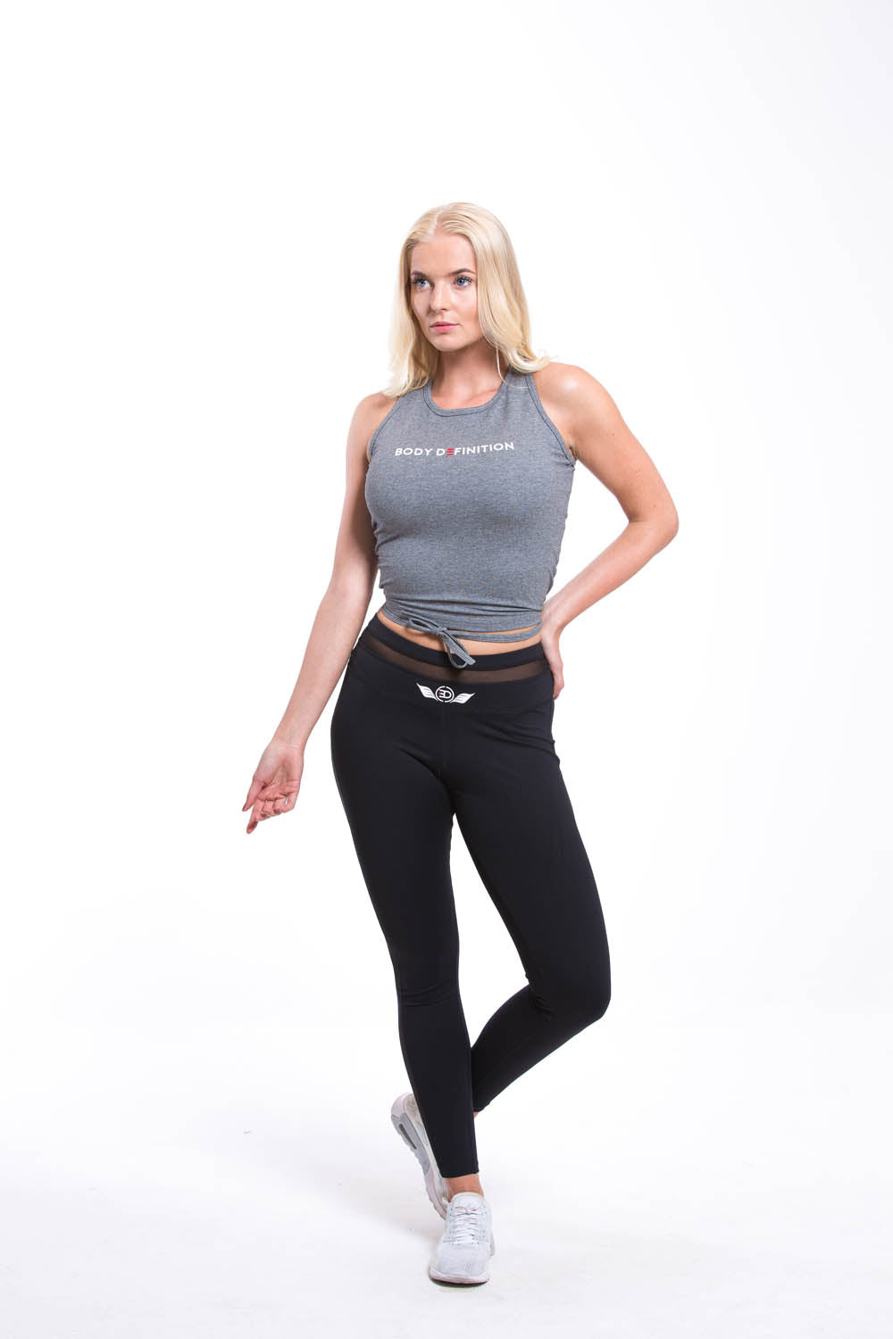 ATEN Cropped Top Grey