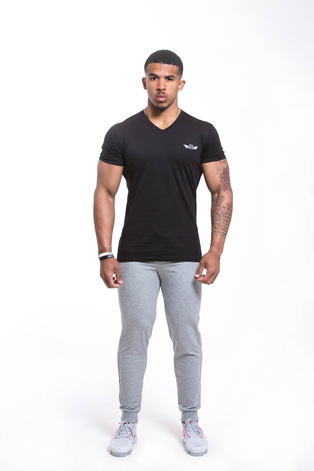SETH V Neck T-shirt Black