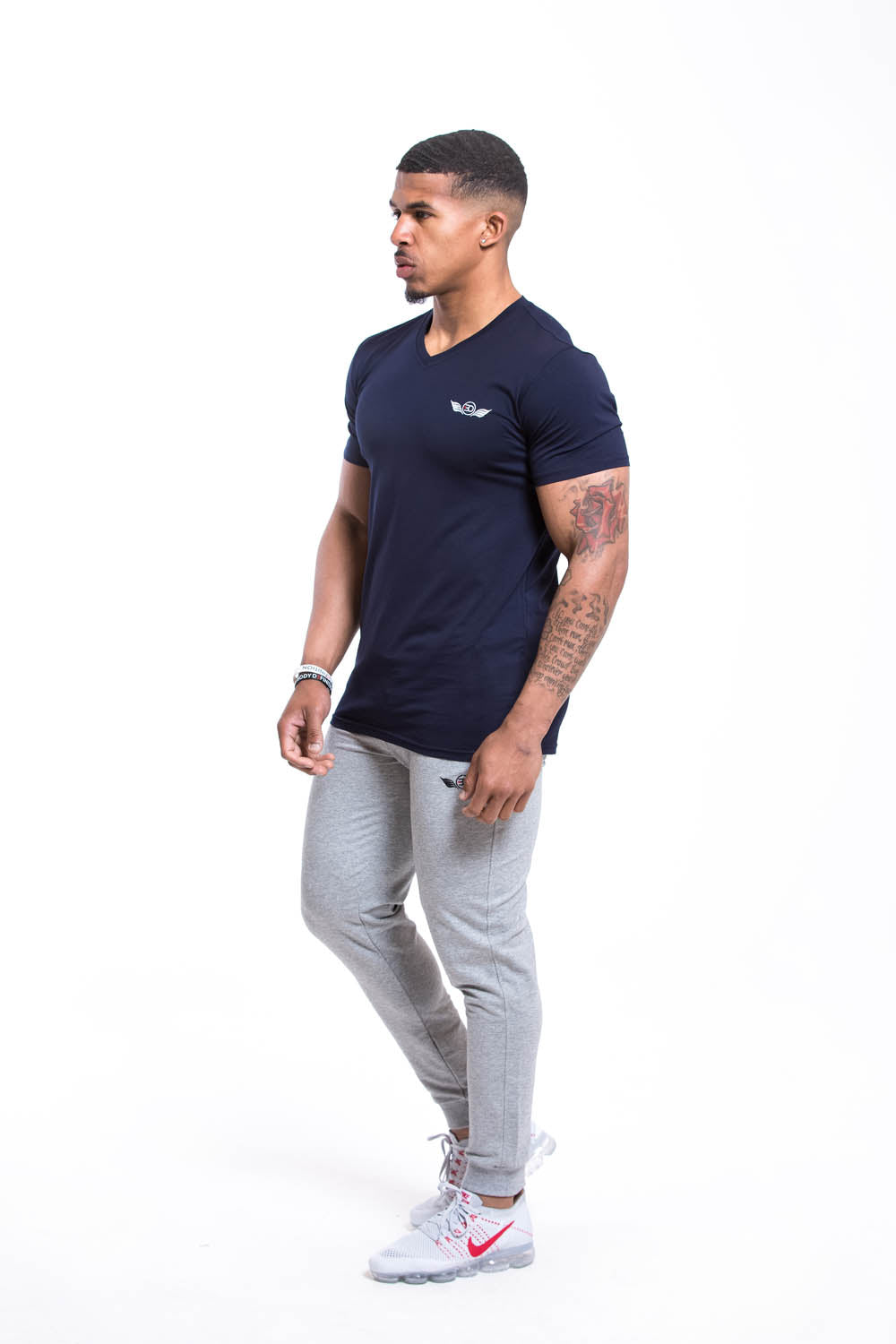 SETH V Neck T-shirt Navy