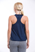 TURO Split Vest Top Navy