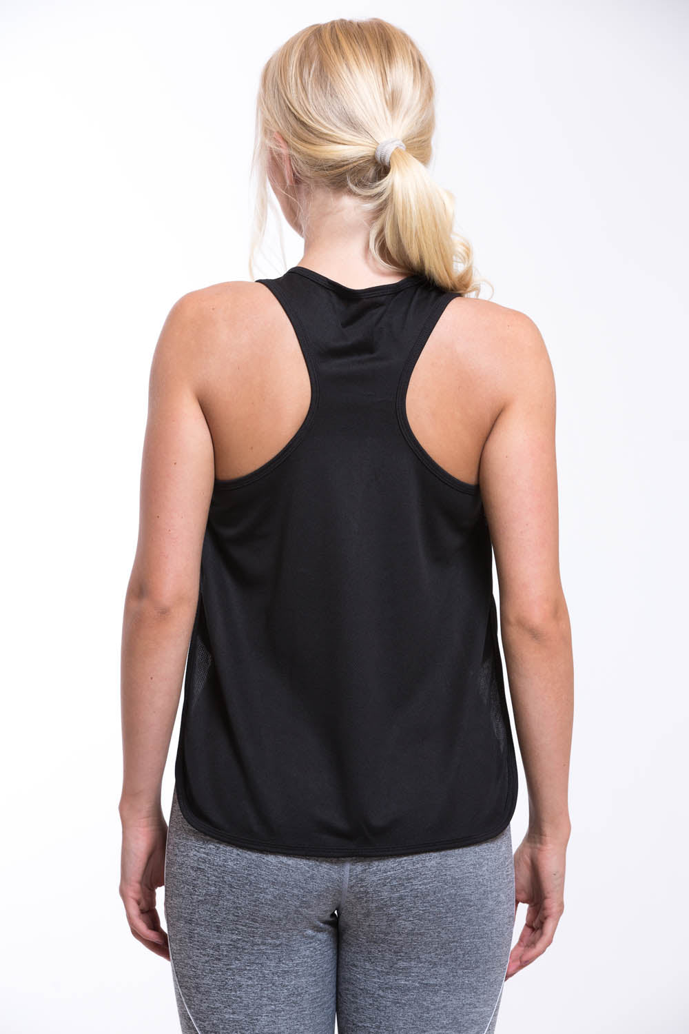 TURO Split Vest Top Black