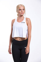 TURO Split Vest Top White